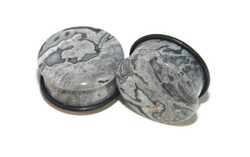 Wave Jasper Stone Single Flared Plugs