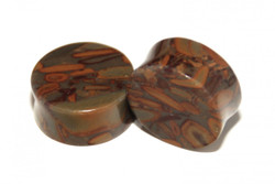 Bamboo Jasper Plugs - Double Flared Plugs