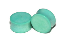 Mint Green Stone Plugs - Double Flared Plugs