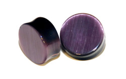 Purple Cats Eye Double Flared Plugs