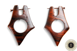Wooden Earrings with Post
