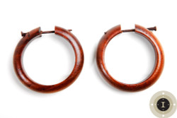Wooden Hoop Earrings with Post