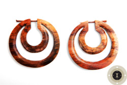 Copy of Wooden Hoop Earrings with Post