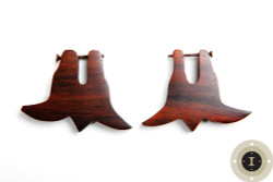 Wooden Bell Earrings with Post