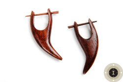 Earthy Wooden Earrings with Posts