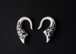 Inlayed Bone Earrings