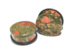 Unakite Single Flare Stone Plugs