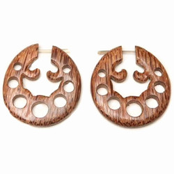 Coconut Wood Post Earrings