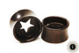 Ebony Wood Eyelet w/ Carved Out Star