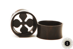 Ebony Wood Fat Cross Eyelets