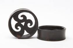 Ebony Wood Eyelet w/ Tri-wave center
