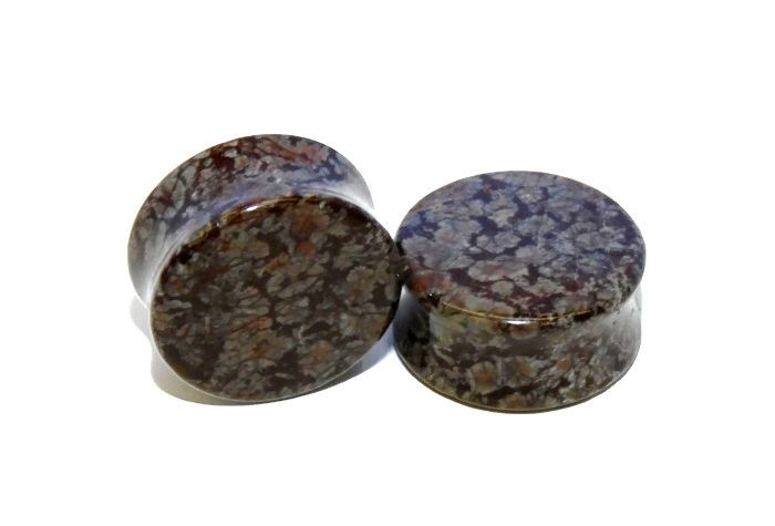 Brown Snowflake Obsidian Plugs