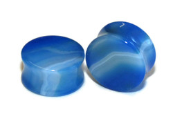 Blue Agate Stone Plugs