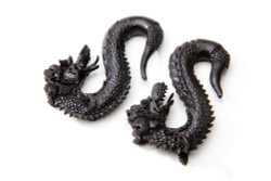 Ebony Wood Carved Dragons - LIMITED EDITION