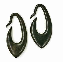 Ebony Wood Gauged Earrings