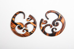 Limited Edition - Tigers Eye Wave Hoops