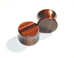 Red Tigers Eye Stone Plugs