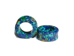Blue and Green Stone Eyelets