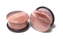 Petrified Wood Stone Plugs - One of a Kind 7/8""