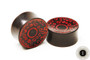 Red Inlay, Ebony Wood
