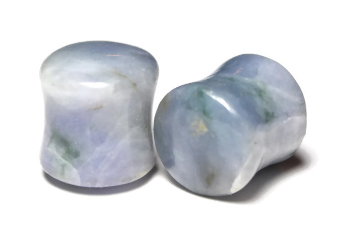 One of a Kind Purple Burmese Jadeite Plugs 9/16""
