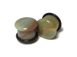 Amazonite Plugs One of a Kind 9/16""