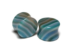 """Blue Agate Plugs One of a Kind 5/8"""""""