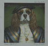 Hand-Painted Needlepoint Canvas - Creative Needle - NA - King Charles - The Constable
