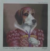 Hand-Painted Needlepoint Canvas - Creative Needle - NA - Beagle - The Duchess