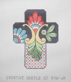 Hand-Painted Needlepoint Canvas - Creative Needle - 546-JH - Talavera Cross II