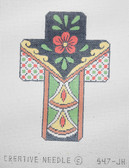 Hand-Painted Needlepoint Canvas - Creative Needle - 547-JH - Talavera Cross III