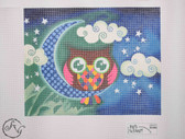 Hand-Painted Needlepoint Canvas - Ruth Schmuff - 6102 - Fanciful Owl