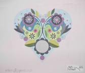Hand-Painted Needlepoint Canvas - Ellen Giggenbach - 6513 - Birds, Flowers and Heart