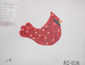 Hand-Painted Needlepoint Canvas - Amanda Lawford - RS-13A - Bird Ornament