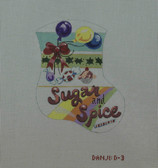 Hand-Painted Needlepoint Canvas - Danji Designs - D-03 - Sugar and Spice