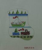 Hand-Painted Needlepoint Canvas - Danji Designs - D-11 - Boy's Stocking (sailboat-truck)