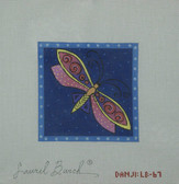 Hand-Painted Needlepoint Canvas - Danji Designs - LB-67 - Blue Dragonfly