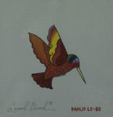 Hand-Painted Needlepoint Canvas - Danji Designs - LB-82 - Red Hummingbird