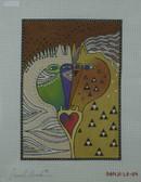 Hand-Painted Needlepoint Canvas - Danji Designs - LB-114 - Love Horses