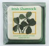 Irish Shamrock Counted Cross Stitch Coaster Kit (1618)