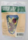 Stitch and Zip Needlepoint Kit – SZ918 – Ladybugs Scissor Case