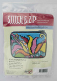 Stitch and Zip Needlepoint Kit – SZ215 – Modern Tulip Coin Purse-Credit Card Case