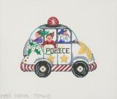 Hand-Painted Needlepoint Canvas - 7346 - Patti Mann - Police Car Santa