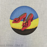 Hand-Painted Needlepoint Canvas - Patti Mann – 11362 – Ornament, Ruby Slippers