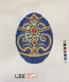 Hand-Painted Needlepoint Canvas – Lee – Faberge Egg – XM484