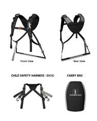 BASIC Piggyback Rider Standing Child Carrier-Black