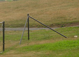 4.5' H Dog Fence Heavy Corner-2 Pack