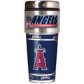 Anaheim Angels 16oz Travel Tumbler with Metallic Wrap