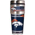 Denver Broncos 16oz Travel Tumbler with Metallic Wrap