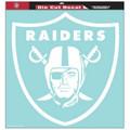 Oakland Raiders - 8x8 White Die Cut Decal